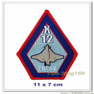美國空軍X-12實驗機機種章 #測試擎天神飛彈 #機種章右臂【國外416-1】
