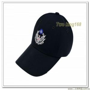 民防義警小帽(6片式白色警徽) #警用小帽【1-4-1】