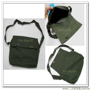 海軍陸戰隊乾糧袋 (鈕扣式) 軍用公文袋雜物袋小書包 海陸 帆布 書包