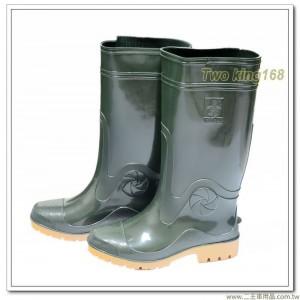 達新牌厚底高級軍用雨鞋(軍綠色)