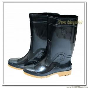 達新牌厚底高級軍用雨鞋(黑色)