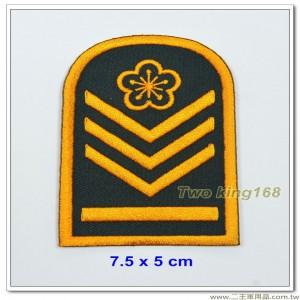 60年代早期士官階級臂章(下士)(綠底)【國內110-7】