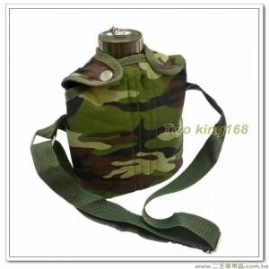 仿美式軍用水壺(304不銹鋼)(1300CC)(含袋)