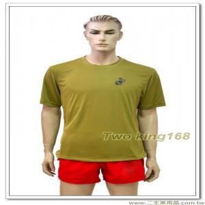 海軍陸戰隊涼感衣(卡其色)(背印英文) #彈力排汗衫