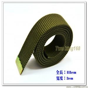 軍用軍便服腰帶 - 憲兵橄欖綠紗帶(加長型)