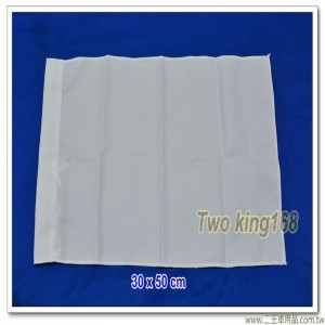 白色發令旗(無字)(30x50公分)(防水尼龍布) #軍用四角旗 #砲長旗