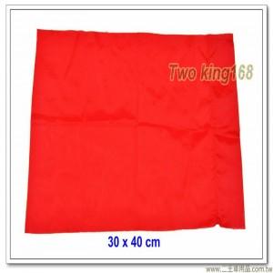 紅色發令旗(無字)(30x40公分)(另有黃色、藍色、白色) #軍用四角旗 #砲長旗