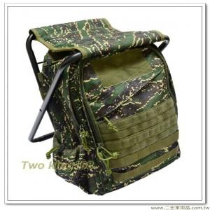 海軍陸戰隊數位虎斑迷彩板凳背包(附贈防水雨套) #板凳包
