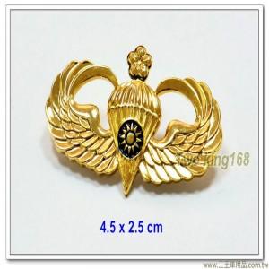 空特傘兵徽-初級(一梅花)(中型銅質)【ba4-4】