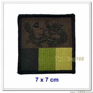 陸軍蘭陽地區指揮部臂章(黃龍部隊)(四角形)(咖啡色低視度)【19-1-1】