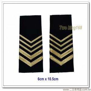 海巡軟式肩章-海巡肩牌-海巡階級-上兵(二粗三細)100元