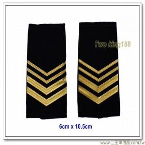 海巡軟式肩章-海巡肩牌-海巡階級-一兵(二粗二細)100元