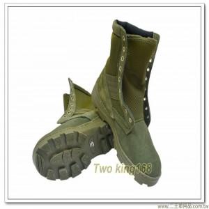 麂皮戰鬥靴-綠色