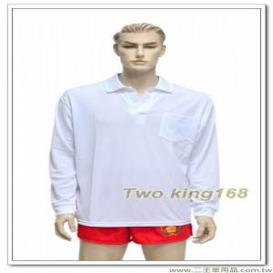 白色排汗POLO衫(長袖) #空軍專用(東)