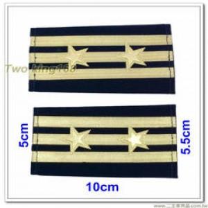 海巡軟式肩章-海巡肩牌-海巡階級-上校-警監四階(三線二星)