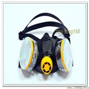 雙罐活性碳藥罐式防毒口罩(專業級)【SD-503】
