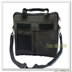 黑色飛行頭盔袋(中型)(防水尼龍材質)(三處魔鬼氈)