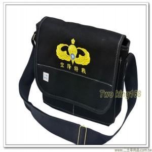 基本傘徽帆布洽公袋(黑色)(加厚款) ★軍用書包