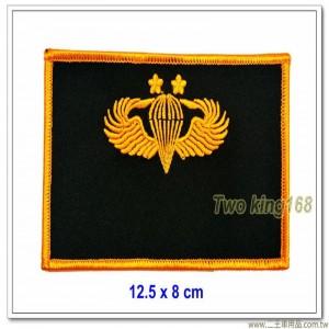 陸軍空特夾克名牌(二顆梅花) ★傘兵徽胸章 ★傘徽胸章傘兵夾克胸章【11-24-1】