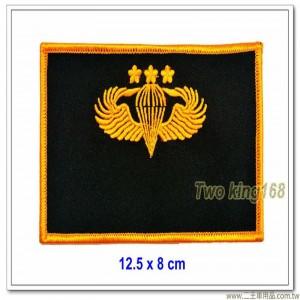 陸軍空特夾克名牌(三顆梅花) ★傘兵徽胸章 ★傘徽胸章傘兵夾克胸章【11-24-2】