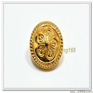 警用制服金屬鈕扣 ★警察鈕扣(鋁質金色)(中)