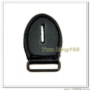 黑牛皮識別證扣(鐵環)
