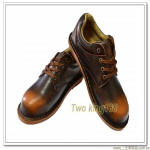 古銅色真皮短筒安全鞋 ★工作鋼頭鞋(合乎CNS20345商檢標準) 【H-6668】