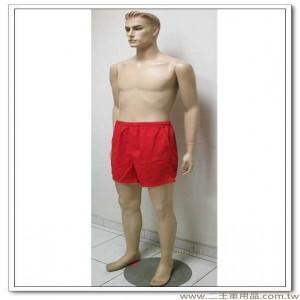 運動短褲(加長型紅色三口袋斜紋布)尺寸3L(200元)(H)