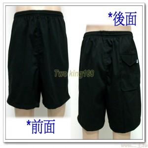 運動短褲3L(200元)(加長型黑色三口袋斜紋布)(H)