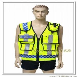英式警察反光背心(透氣網狀)(3M反光條)
