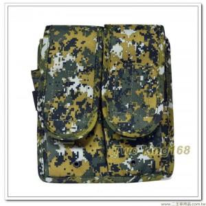 國軍數位迷彩雙連戰術步槍彈匣袋(防水尼龍) ★雙連彈匣袋 ★戰鬥個裝