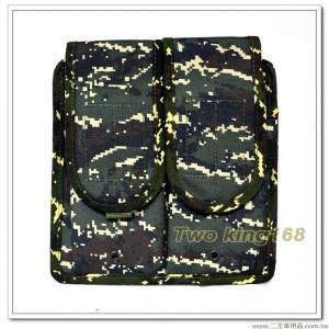 海軍陸戰隊數位虎斑迷彩雙連戰術步槍彈匣袋(防水尼龍) ★雙連彈匣袋 ★戰鬥個裝