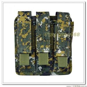 國軍數位迷彩三連戰術手槍彈袋(防水尼龍) ★三連彈匣袋 ★戰鬥個裝