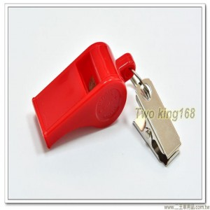 紅色塑膠哨子(附夾子)