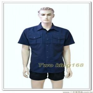 台灣製造新式警察制服(短袖上衣)(深藍色)(吸濕排汗) ★警察勤務服