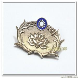 憲兵軍徽(士官銀色)(銅質) #憲兵榮譽徽 #憲兵荷花徽章【ba22-2】