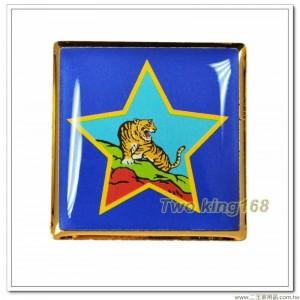 金東守備隊紀念章(正方形) ★陸軍319師 ★虎軍部隊【bg6-11-2】