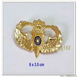 空特傘兵徽 - 高級(三梅花)(鋁質) ★空降特戰 【ba5-1】