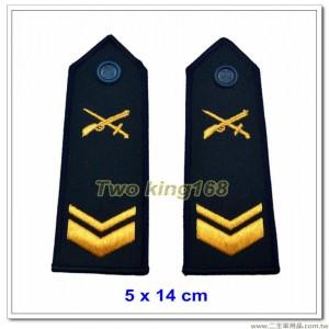 早期海岸巡防司令部肩章(下士) ★早期海巡署肩章-深藍色底