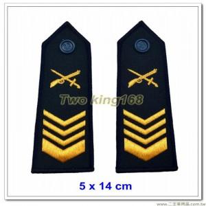 早期海岸巡防司令部肩章(上士) ★早期海巡署肩章-深藍色底