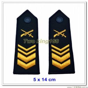 早期海岸巡防司令部肩章(二等長) ★早期海巡署肩章-深藍色底