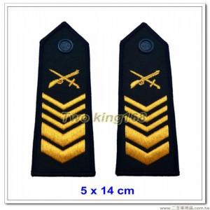 早期海岸巡防司令部肩章(一等長) ★早期海巡署肩章-深藍色底