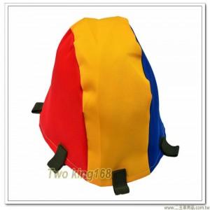 防彈三色偽裝帽(紅黃藍)(魔鬼氈)