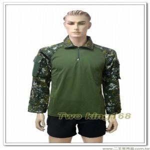 綠色青蛙裝(國軍數位迷彩袖子)(雙手臂口袋)(中)