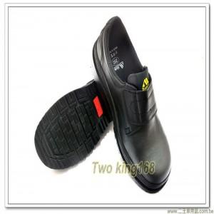 黑色鋼頭安全鞋(魔帶款)(橡膠大底)(PU除臭抗菌鞋墊)【C1066】
