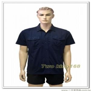 新式警察排汗POLO衫(深藍色))(胸前拉鍊)(短袖上衣) ★警察勤務服