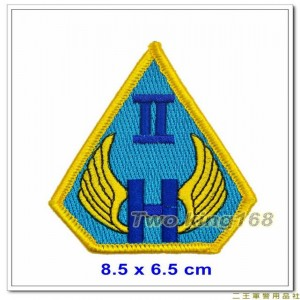 陸軍航空602旅臂章(龍翔部隊)(新式黃邊)【2-4-1】
