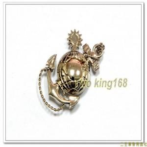 海軍陸戰隊徽(帽徽)(銀色銅質)【bn19-5-1】