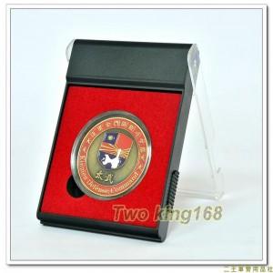 金防部紀念幣(銅質)(含盒)(特1)1-2 ★金門防衛司令部紀念幣 ★草綠服 ★老兵召集令