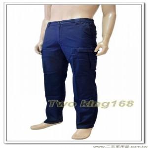 新式警察制服長褲(深藍色)(棉質彈性纖維長褲) #253★警察勤務褲★5L下標區
